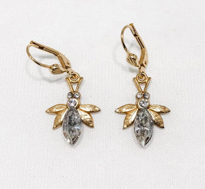 Crystal Honey Bee Earrings