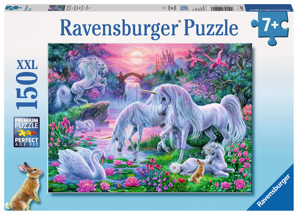 Unicorns in The Sunset Glow 150 Piece Kids Jigsaw Puzzle