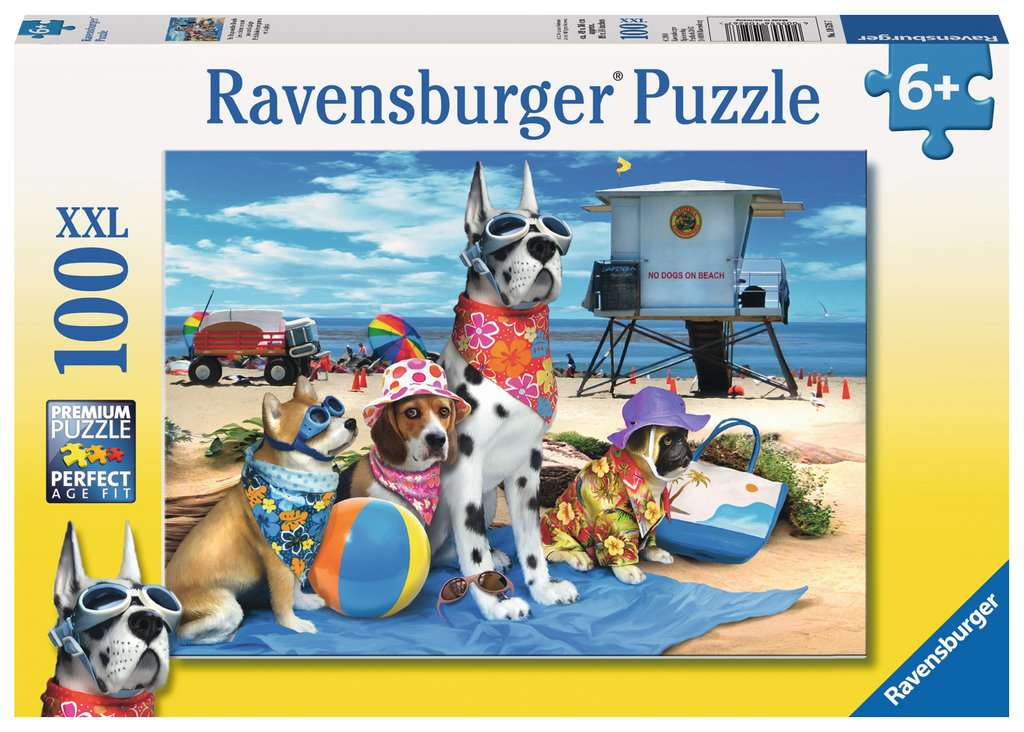 No Dogs on the Beach 100 Piece Kids Jigsaw Puzzle