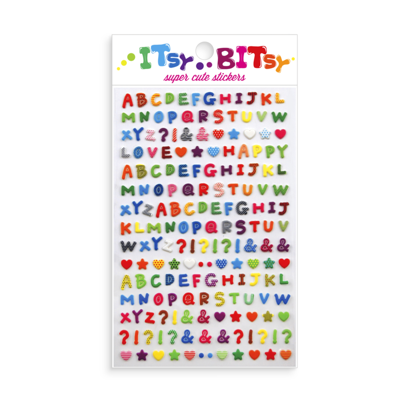Ooly Itsy Bitsy Stickers Pattern Alphabet
