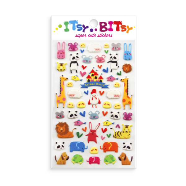Ooly Itsy Bitsy Stickers Animal World