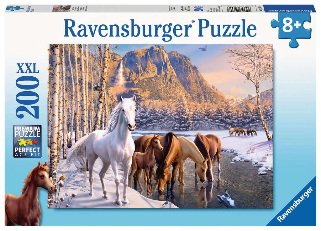 Winter Horses 200 Piece Kids Jigsaw Puzzle
