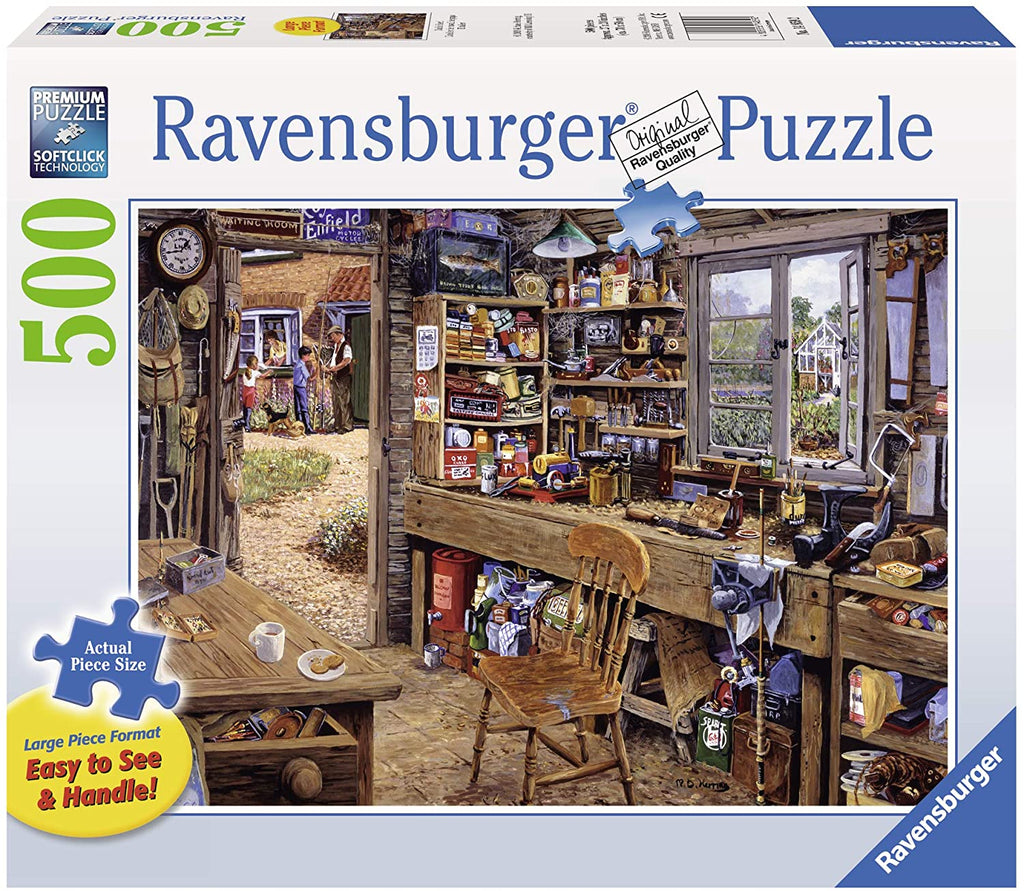 Dads Shed 500 Piece Large Format Jigsaw Puzzle