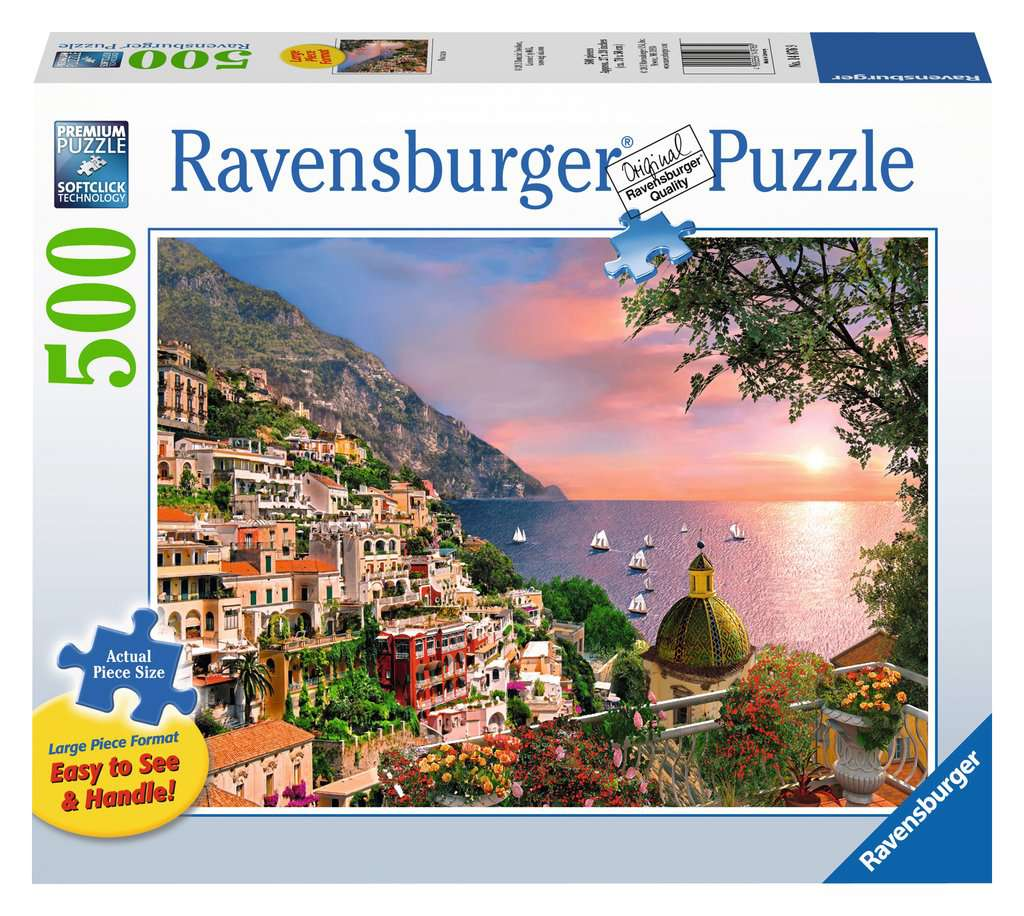 Positano 500 Piece Jigsaw Puzzle Large Format