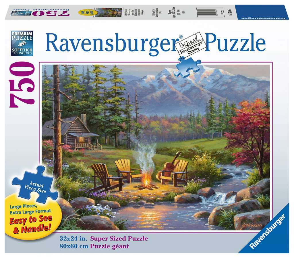Riverside Living Room 750 Piece Large Format Jigsaw Puzzle