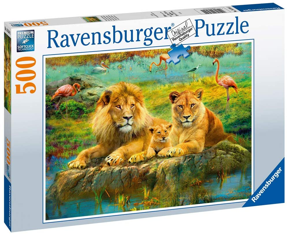 Lions in the Savannah 500 Piece Jigsaw Puzzle