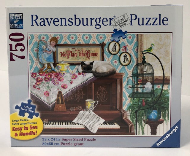 Piano Cat 750 Piece Large Format Jigsaw Puzzle