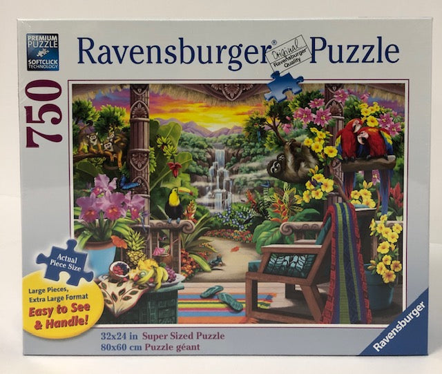 Tropical Retreat 750 Piece Large Format Jigsaw Puzzle