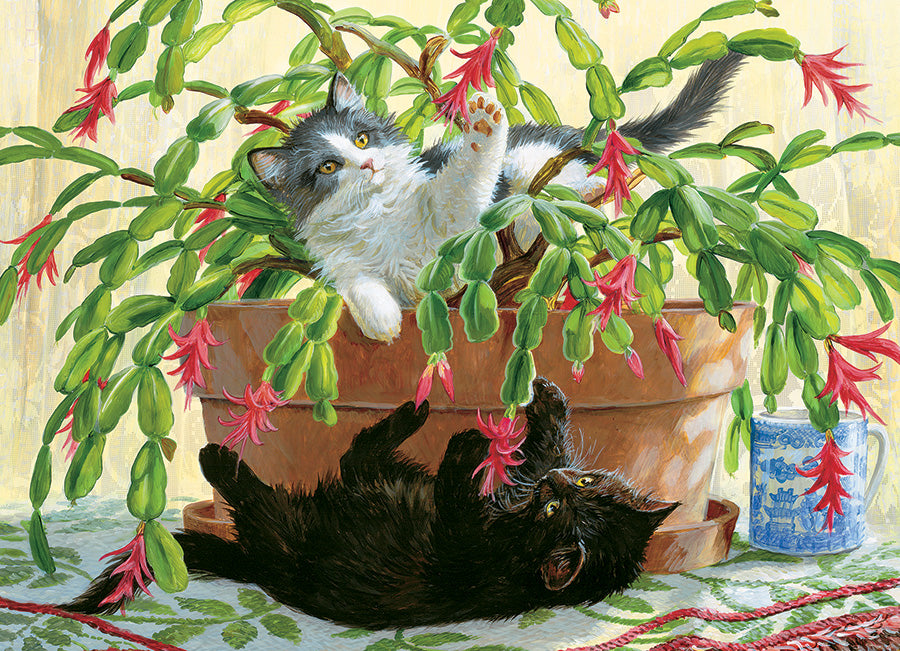 Cobble Hill Cactus Kitties 1000 Piece Random Cut Jigsaw
