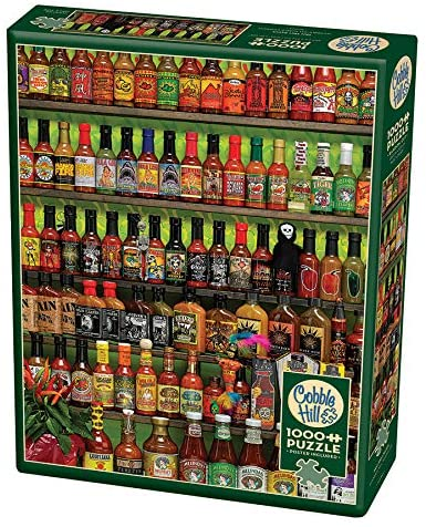 Cobble Hill Hot Hot Sauce 1000 Piece Random Cut Jigsaw Puzzle