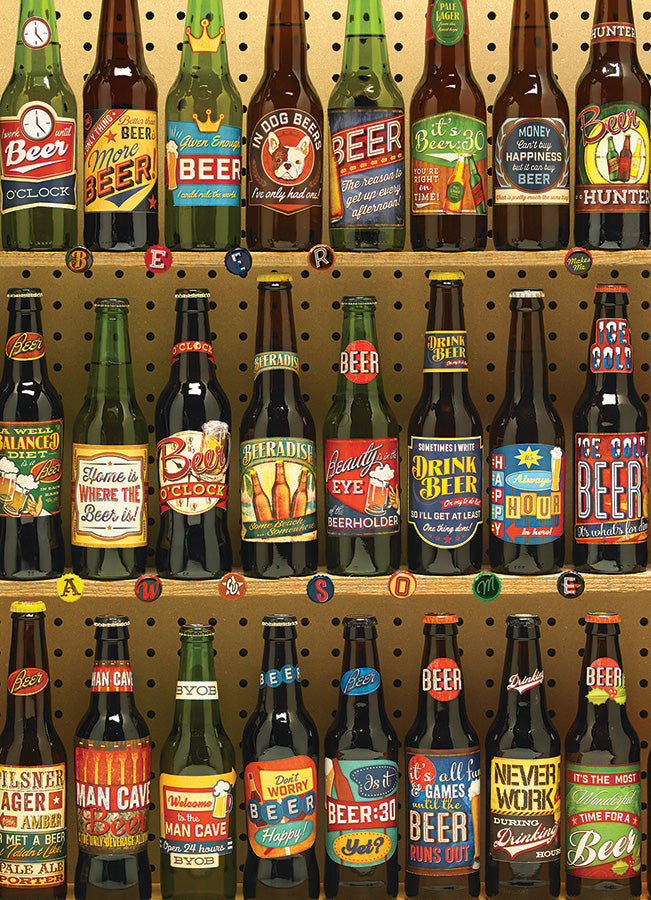 Cobble Hill Beer Collection 1000 Piece Random Cut Jigsaw Puzzle
