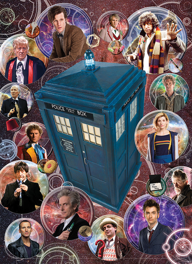Cobble Hill Doctor Who: The Doctors 1000 Piece Random Cut Jigsaw Puzzle