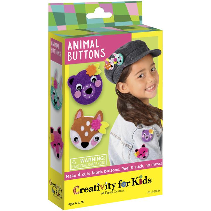 Animal Buttons Craft Kit