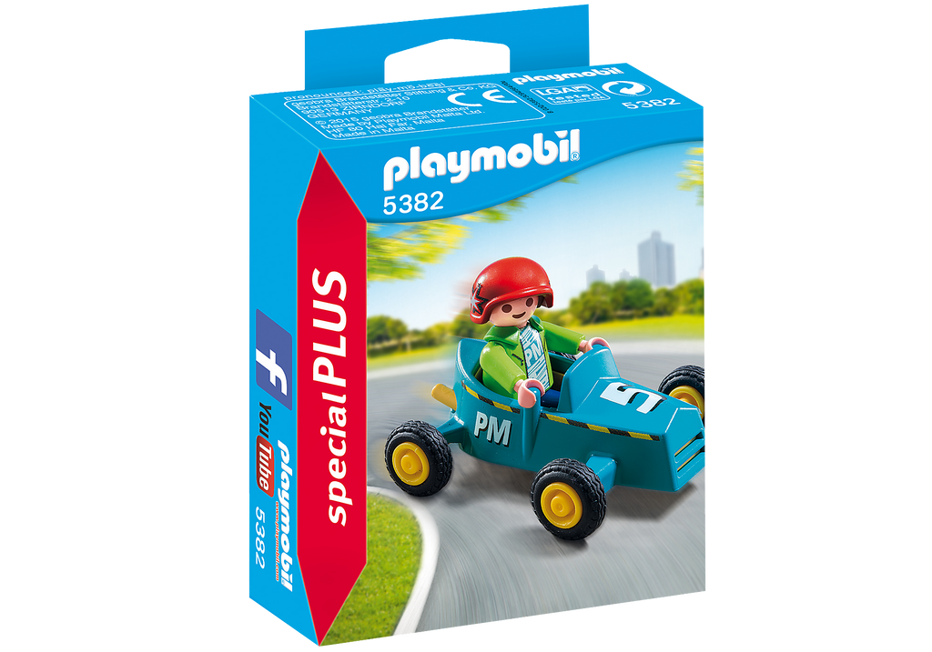 Playmobil Boy with Go Kart