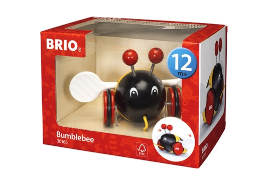 Brio Bumble Bee Wooden Pull Toy