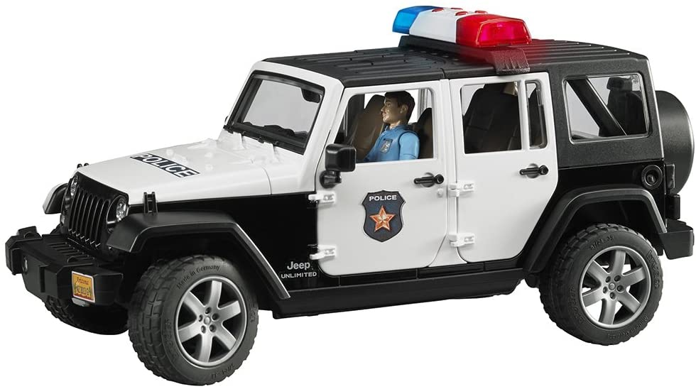 Bruder Jeep Rubicon with Policeman