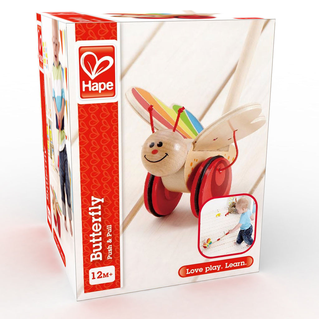Hape E0340 Butterfly Push Along