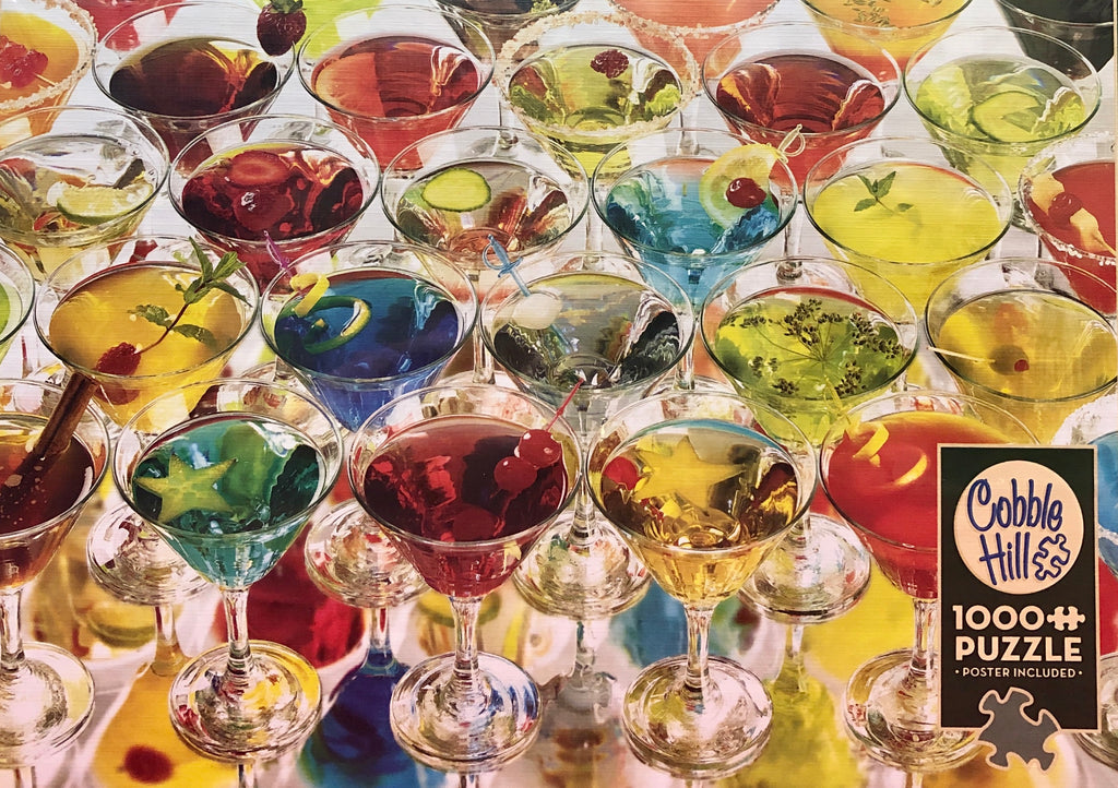 Cobble Hill Martinis 1000 Piece Random Cut Jigsaw Puzzle