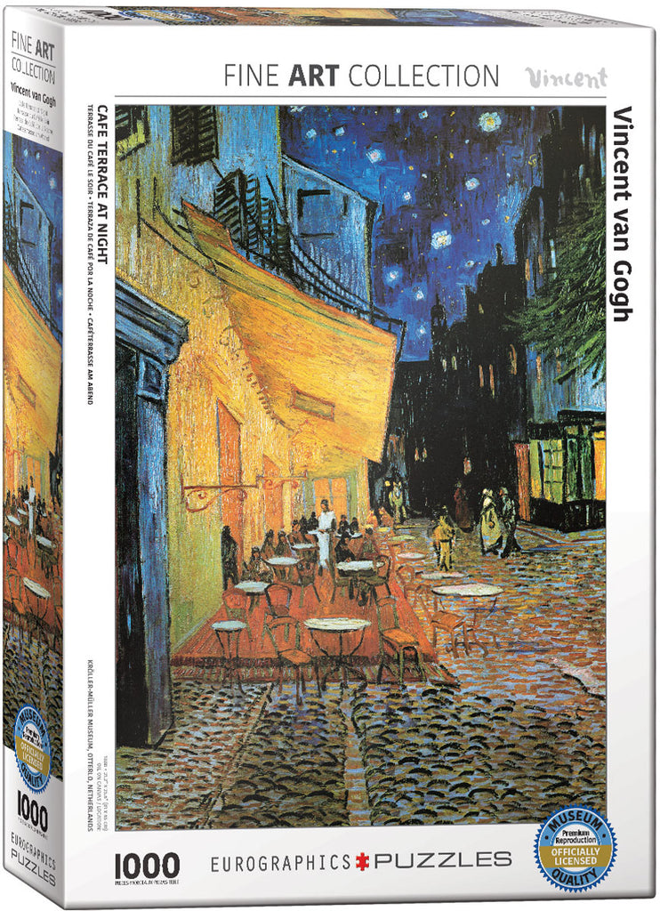 Eurographics Cafe Terrace at Night Vincent van Gogh 1000 Piece Jigsaw Puzzle