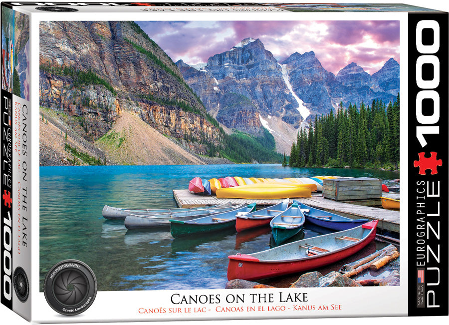 Eurographics Canoes on the Lake 1000 Piece Jigsaw Puzzle