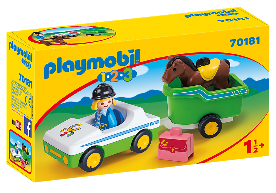 Playmobil 70181 123 Horse and Trailer