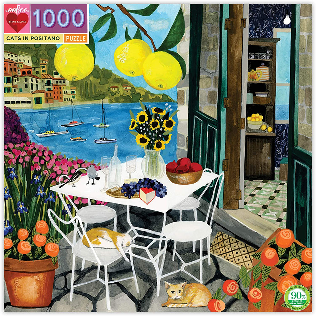 Cats in Positano 1000 Piece Jigsaw Puzzle