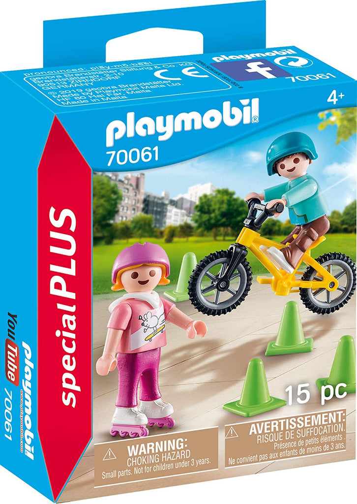 Playmobil 70061 Children with Skates and Bikes