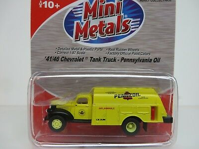 Classic Metal Works 30335 HO Scale 1941 Chevy Penzoil Tank Truck
