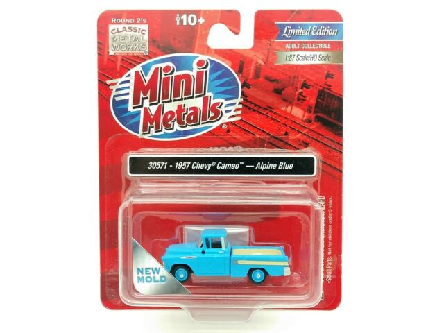 Classic Metal Works HO Scale 1957 Cameo Pickup Truck Alpine Blue