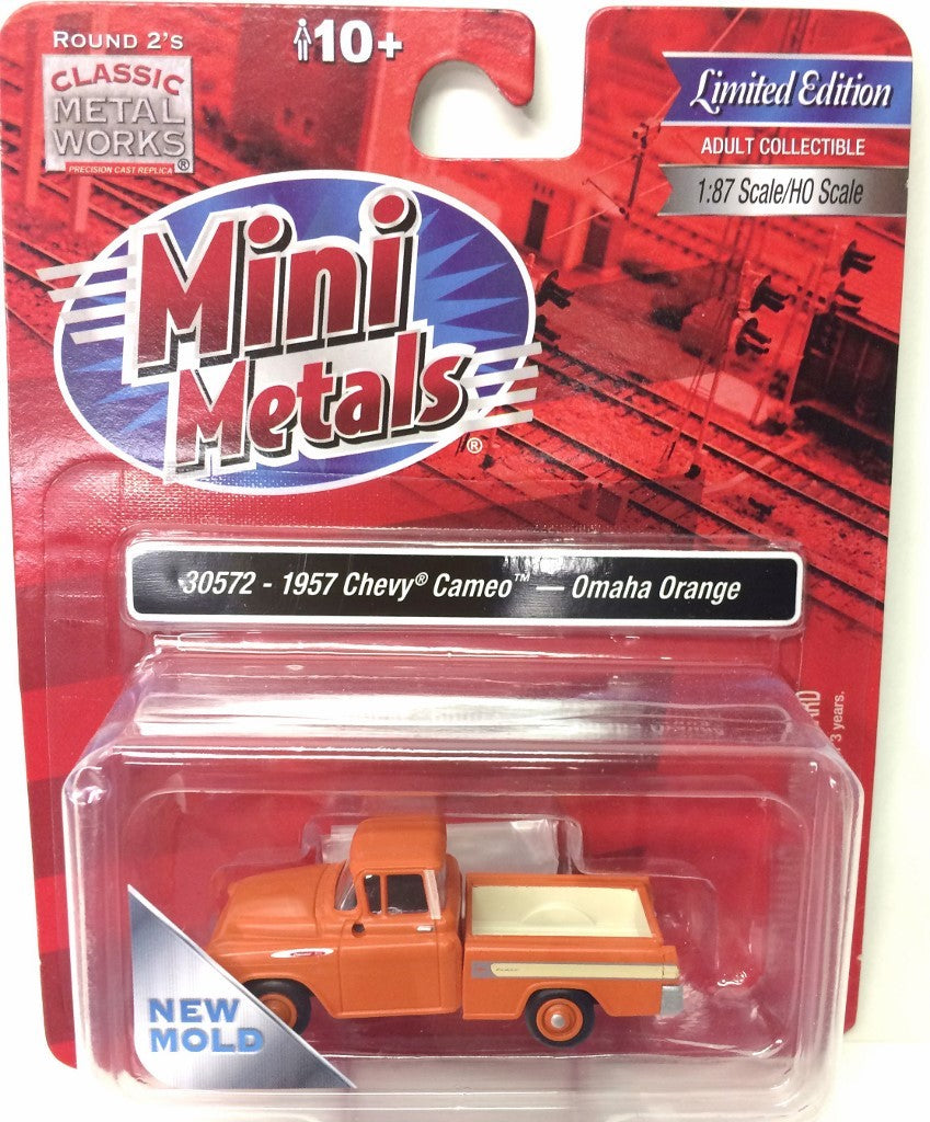 Classic Metal Works HO Scale 1957 Cameo Pickup Truck Omaha Orange