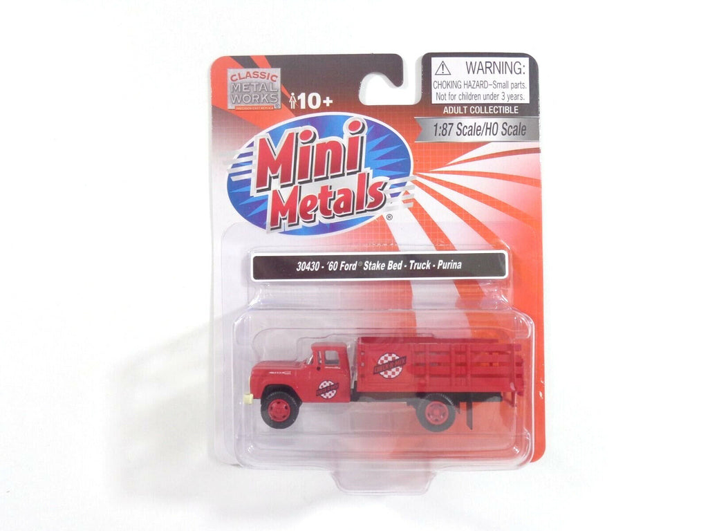 Classic Metal Works HO Scale 1960 Ford Stake Bed Purina
