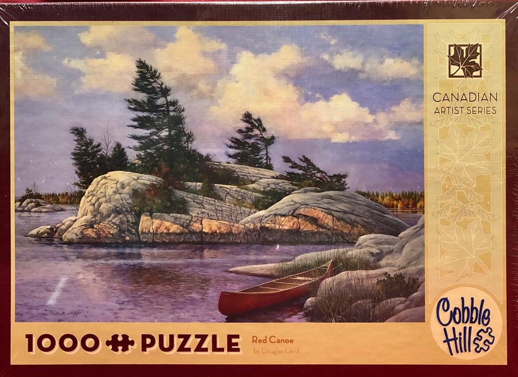 Cobble Hill Red Canoe 1000 Piece Jigsaw Puzzle