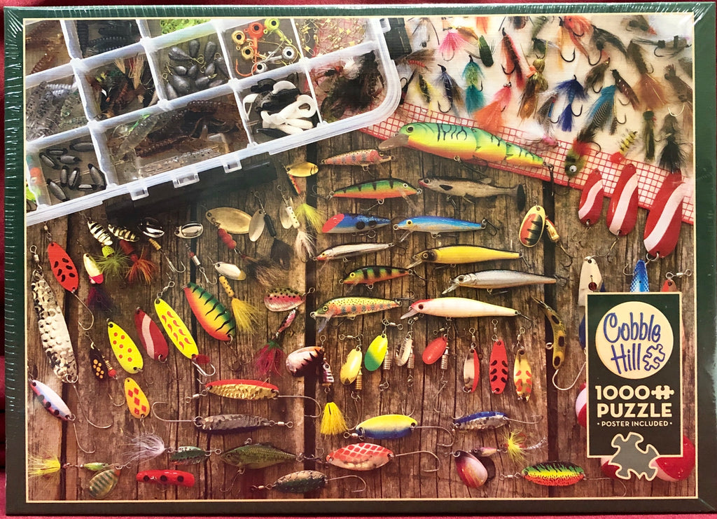 Cobble Hill Fishing Lures 1000 Piece Random Cut Jigsaw Puzzle