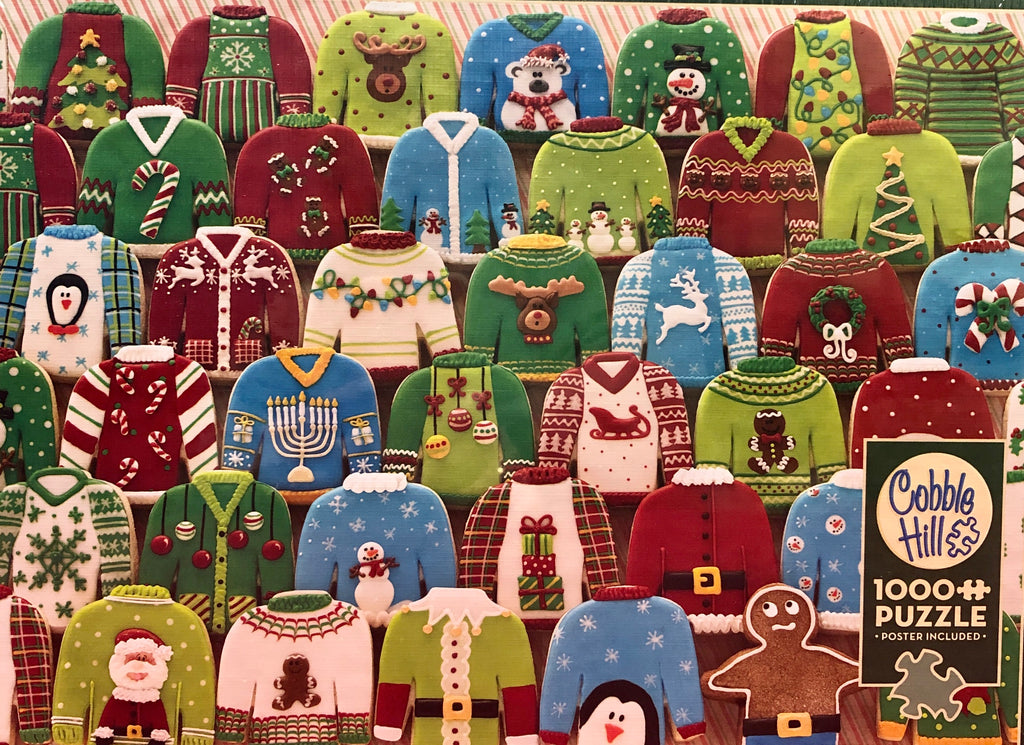 Cobble Hill Ugly Christmas Sweaters 1000 Piece Jigsaw Puzzle