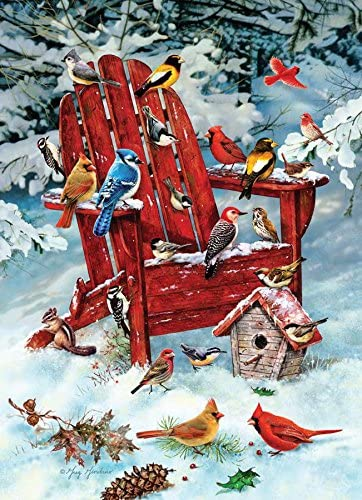 Cobble Hill Adirondack Birds 1000 Piece Random Cut Jigsaw Puzzle