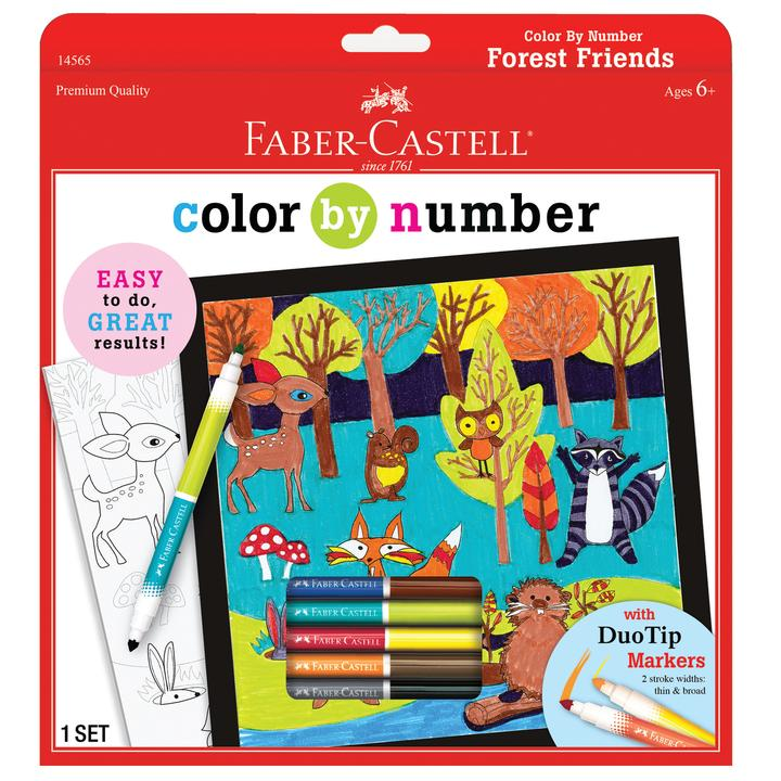 Forest Friends Color By Number Kit