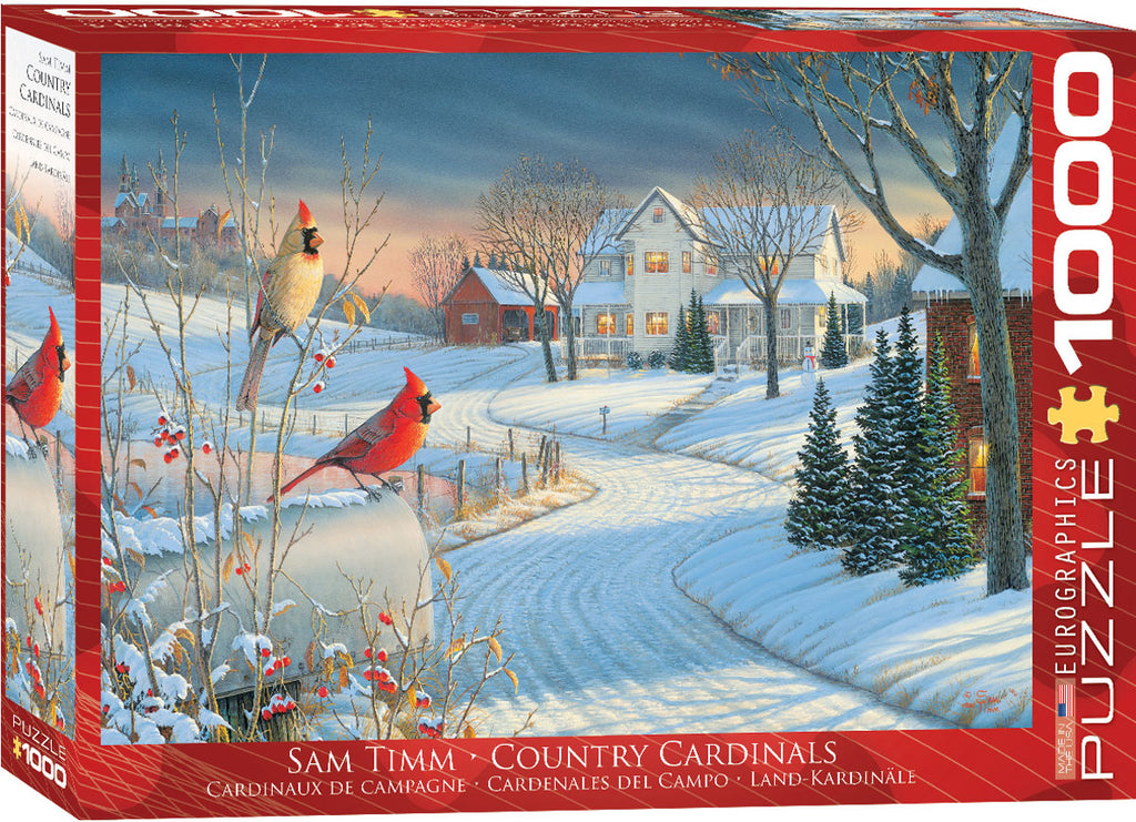 Eurographics Country Cardinals 1000 Piece Jigsaw Puzzle