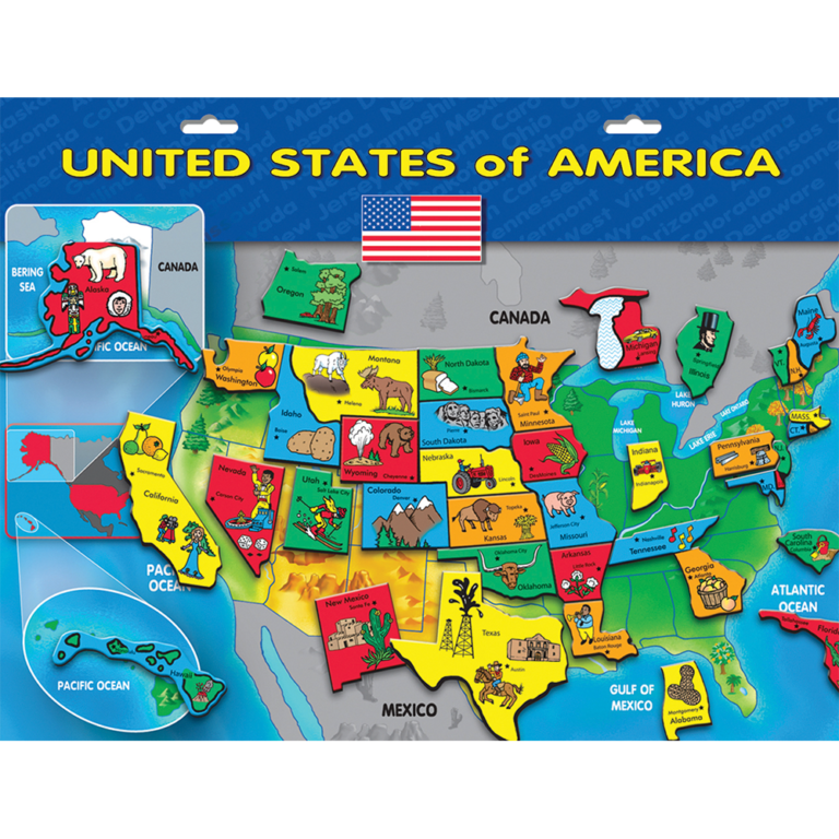 Magnetic USA Puzzle