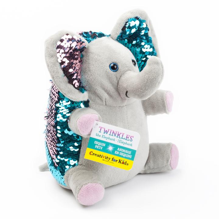 Twinkles the Elephant Sequin Pet