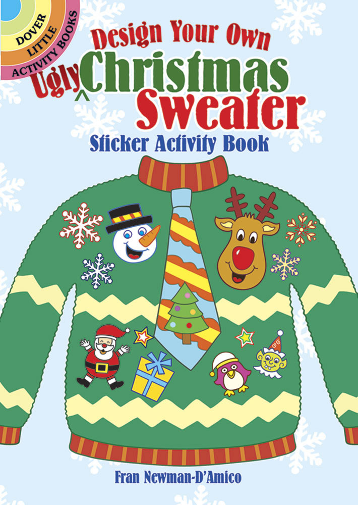 Design Your Own Christmas Sweater Sticker Activity Book
