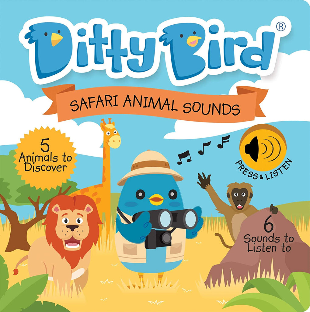 Ditty Bird Safari Animal Sounds Talking Book