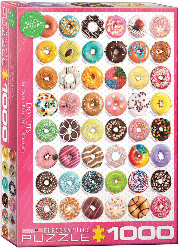 Eurographics Donut Tops 1000 Piece Jigsaw Puzzle