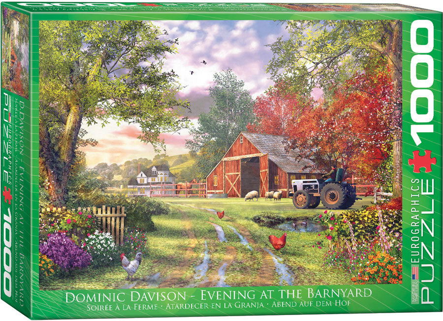 Eurographics Evening at the Barnyard 1000 Piece Jigsaw Puzzle