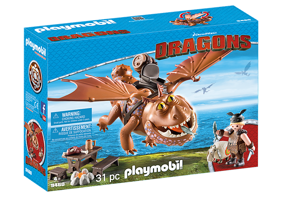 Playmobil 9460 Fishlegs and Meatlug Dragons
