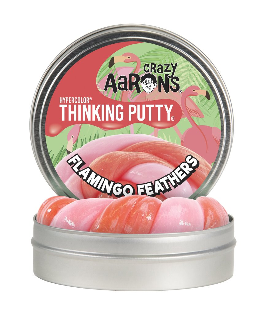 Crazy Aaron Flamingo Feathers Thinking Putty