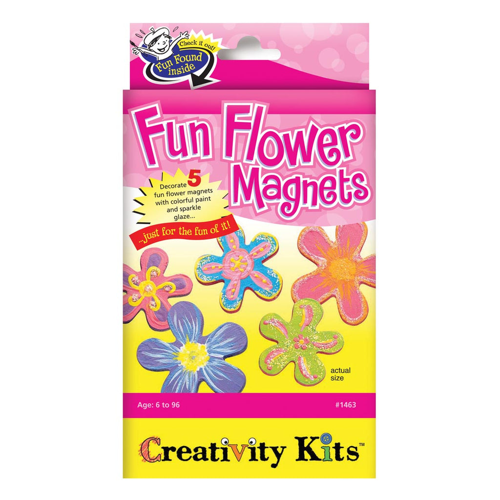 Fun Flower Magnets Craft Kit