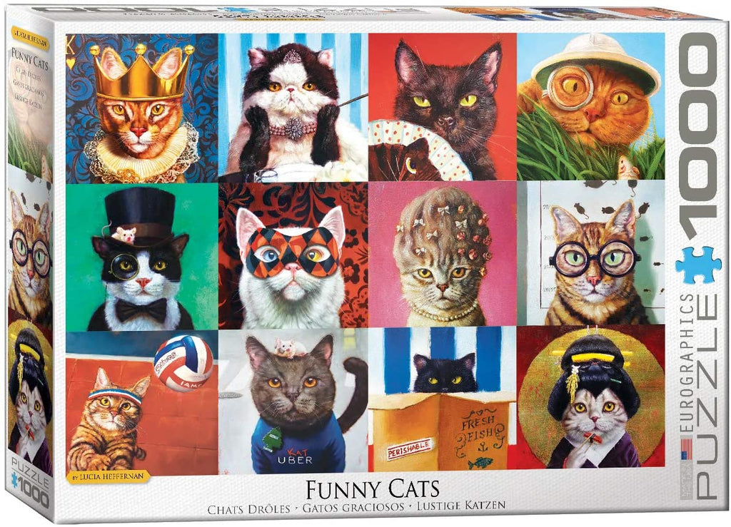 Eurographics Funny Cats 1000 Piece Jigsaw Puzzle