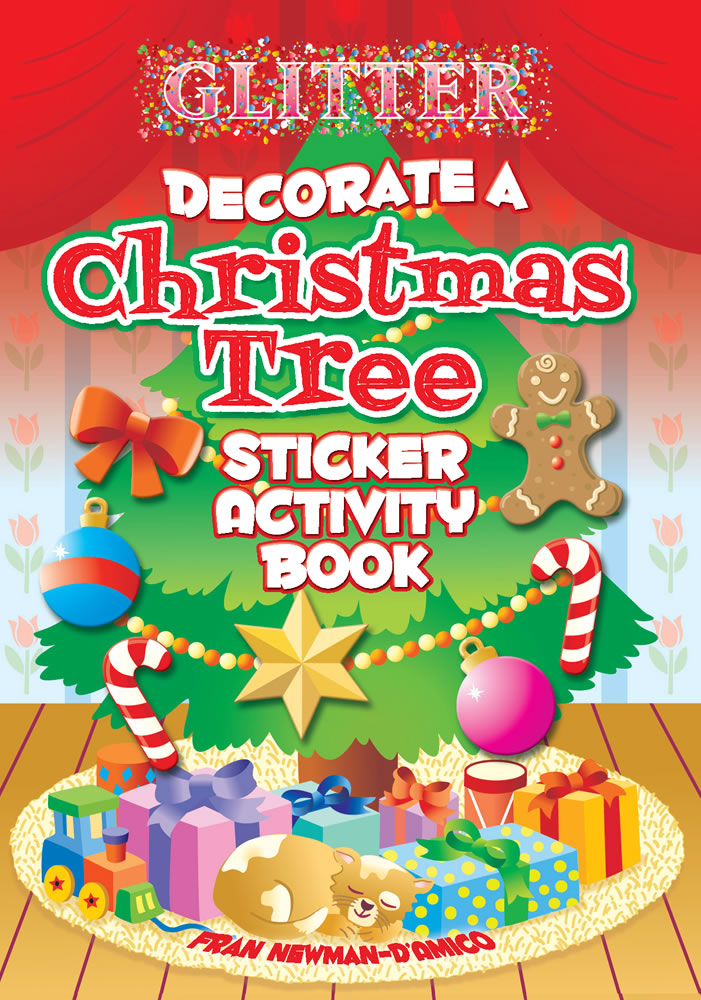 Glitter Decorate a Christmas Tree Sticker Activity Book