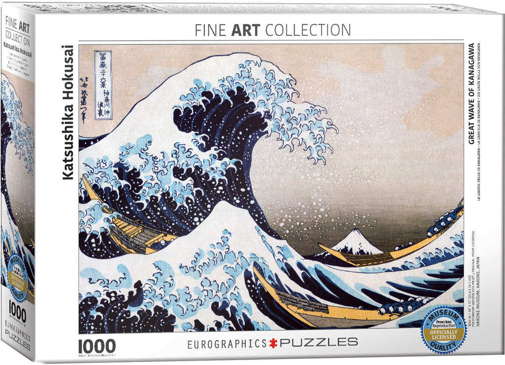 Eurographics Great Wave of Kanagawa 1000 Piece Jigsaw Puzzle