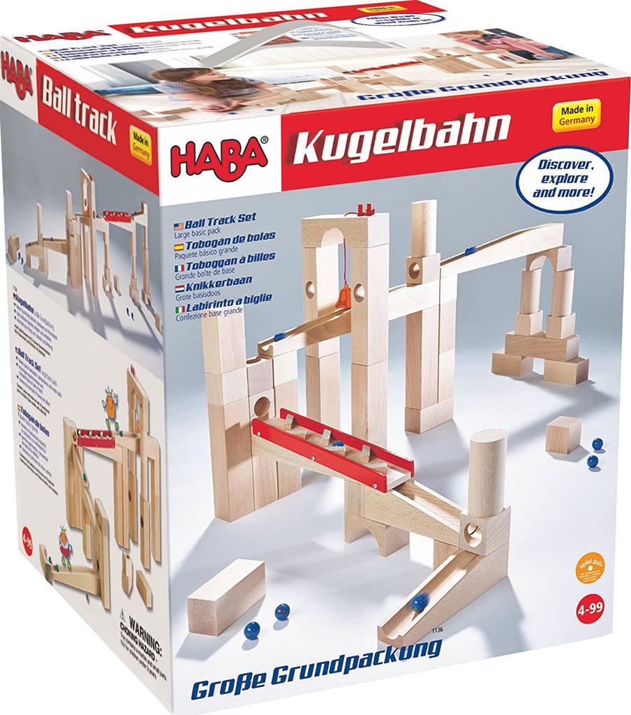 Haba 1136 Wooden Marble Track Large Set